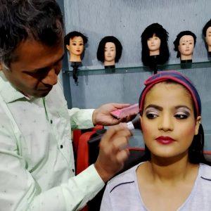 Air Brush Makeup class in progress