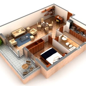 Digitally Prepared Layout of a full Spacious House