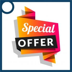 A poster for Special offers and discounts by us